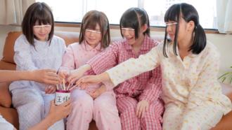 可愛い妹達とまさかの「こんなの恥ずかしい(*ノωノ)」王様ゲームで思春期娘のオマンコチェックw