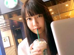 【素人】新宿のスタバでナンパした腰使い抜群なパイパン女子大生