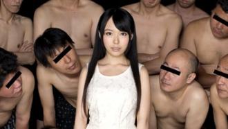 美少女AV女優 森川涼花ちゃんがぶっかけ祭りで可愛い顔が台無し!