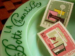 stamp+vintage french ashtray