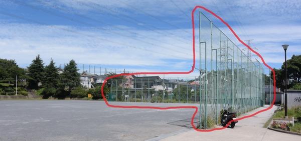 いの山東公園フェンス1