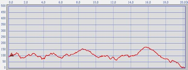 大南野津広域農道高低グラフ