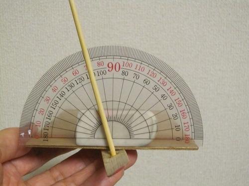竹とんぼ迎え角度測定方法ー3