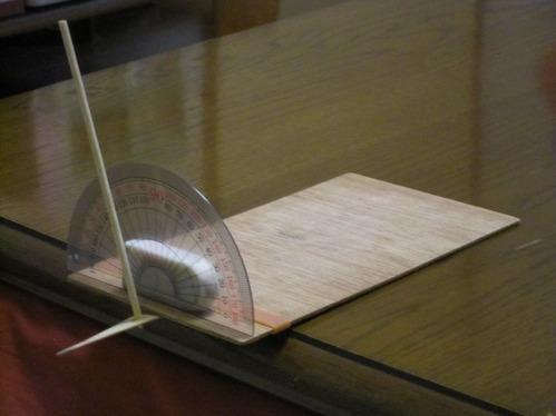竹とんぼ迎え角度測定方法ー1
