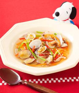 あさりと野菜の五目スープ