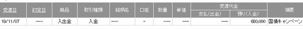 日興個人向け国債現金プレゼント20191107
