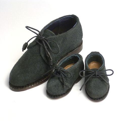 兄貴とお揃いチャッカブーツ! SD17 サイズと 幼サイズ で、お揃いのドール靴を作ってみました。