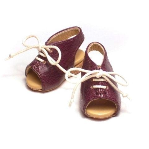 SD 幼サイズ でオープントゥの ドール靴 (サンダル?)を、初挑戦のウェッジソールで作ってみました。