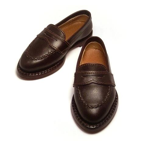 お洒落な兄貴のデート靴。スーパードルフィーR SD13少年 サイズでローファーを作りました。