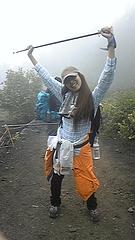 霧が出た〜