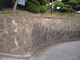 カーブ石垣