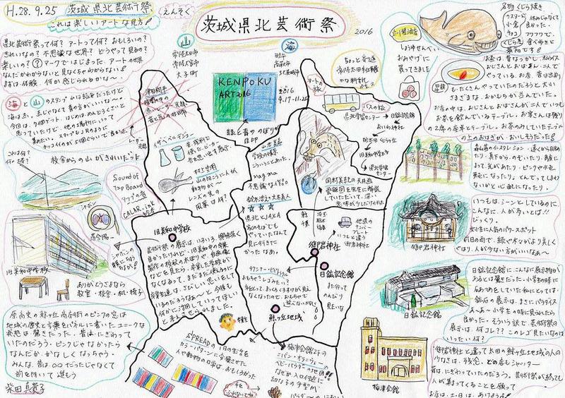 これは楽しい県北芸術祭・柴田真貴子さんの絵日記