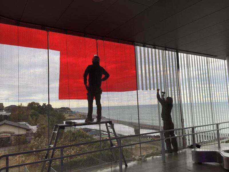 茨城県北芸術祭の作品撤去作業