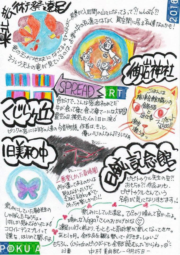 ケンポク芸術祭絵日記:中村美由紀