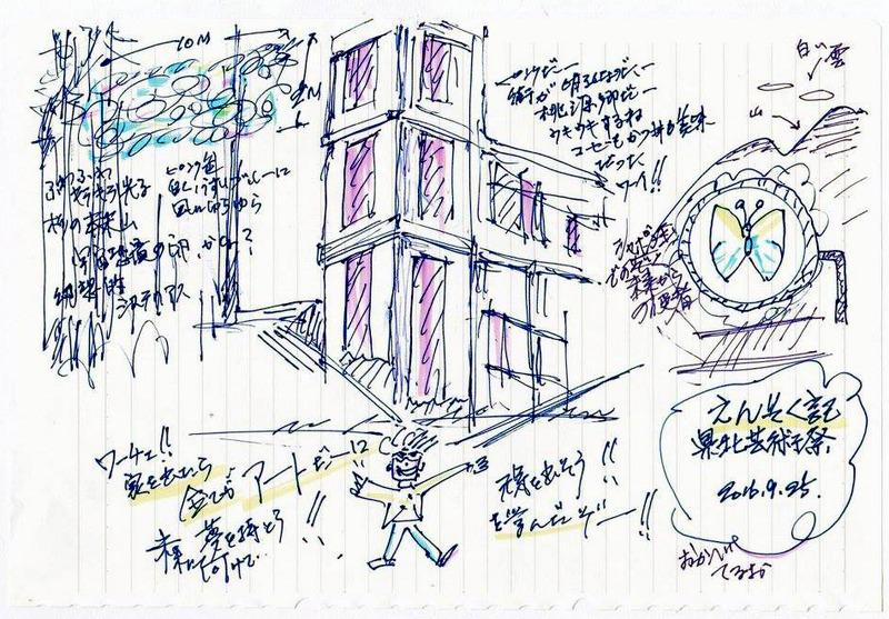 ケンポク芸術祭絵日記:おかべてるお