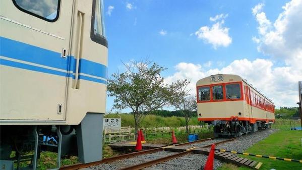 廃線となった鹿島鉄道・鉾田線の車両