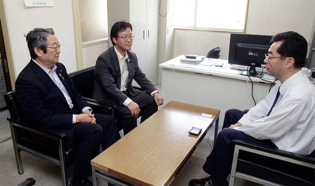 ひたちなか海浜鉄道吉田社長と意見交換