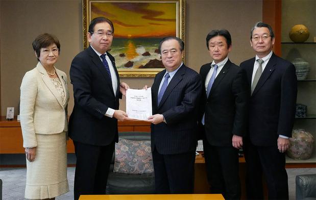 橋本昌知事への予算要望
