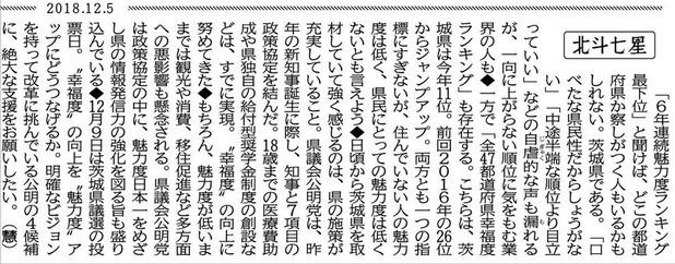 公明新聞【北斗七星】2018/12/8