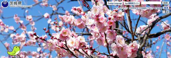 茨城県の公式ホームページのトップ写真