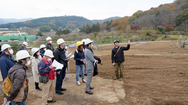 茨城県フラワーパークの工事現場を見学