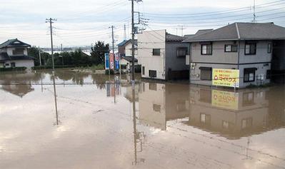根新田地区の浸水状況