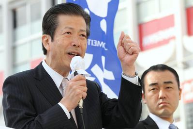土浦駅西口での山口那津男代表の街頭演説