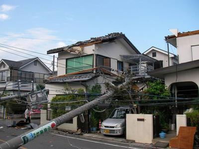 埼玉県越谷市の竜巻被害