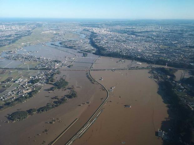 那珂川の洪水の状況
