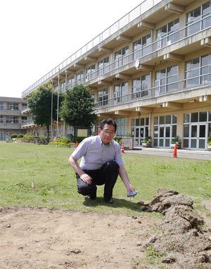 土浦市内での除染作業