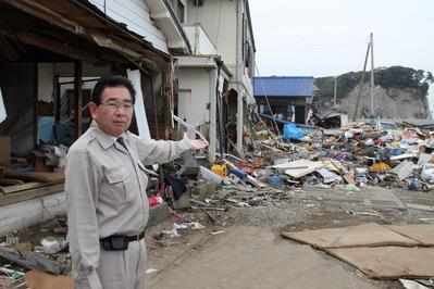 東日本大震災の被災地<北茨城市磯原>