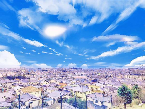金沢団地から太平洋を望む