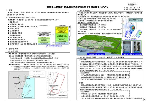 東海第二発電所 新規制基準適合性に係る申請の概要についてページ_1