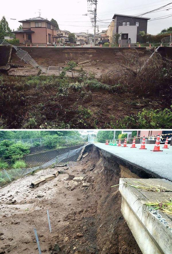 熊本県益城町の被災現場