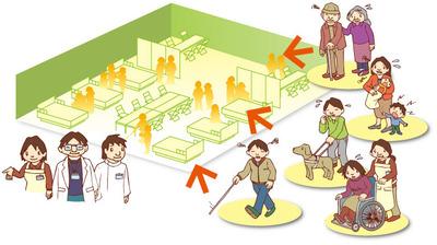 福祉避難所のイメージ(愛媛県のホームページより)