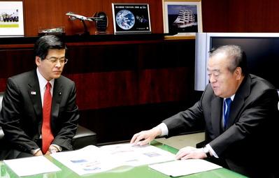 橋本知事が高速道路整備促進について要望