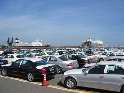茨城港日立港区の自動車輸出