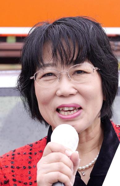 小美玉市議選:うえき弘子候補