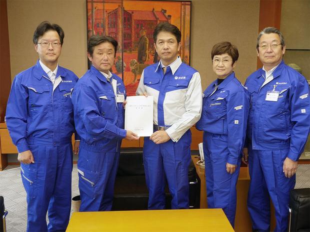 大井川知事に要望書を提出