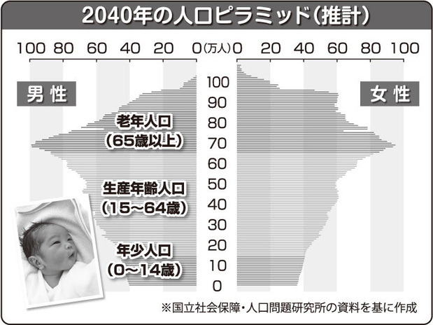 2040年の人口構成