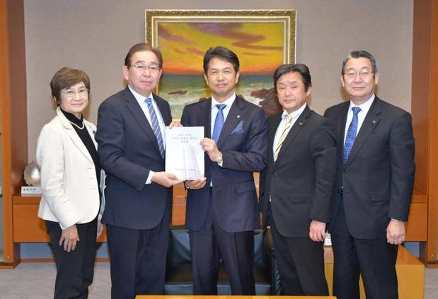 大井川知事への予算要望