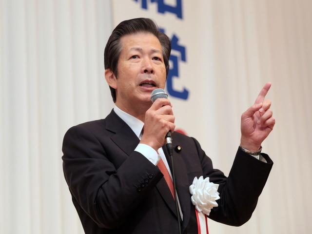 公明党茨城県本部新春の集いで挨拶する山口那津男代表