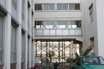 震災直後の日立市役所