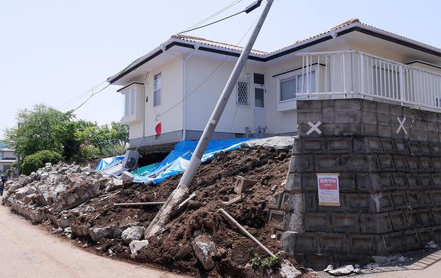 益城町の地盤被害