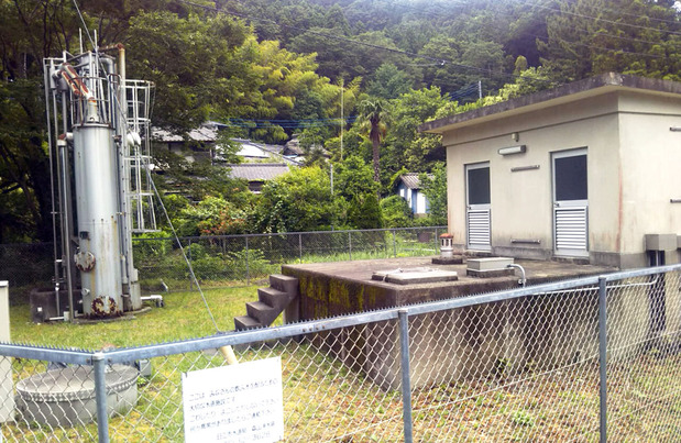 太平田地区の簡易水道施設