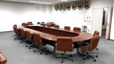 災害対策本部が置かれた庁議室