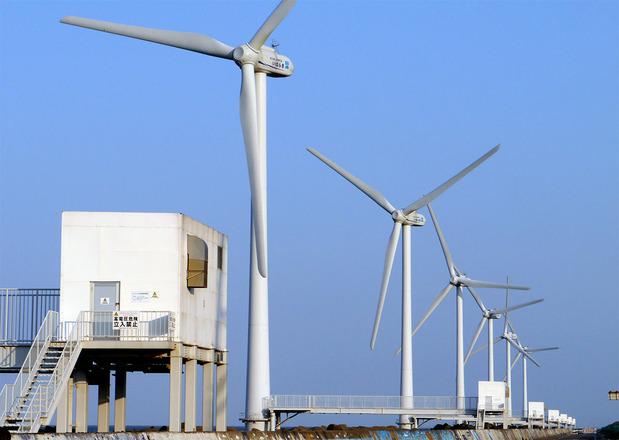 日立製の風力発電装置