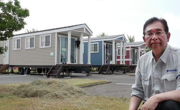 熊本県益城町のトレーラーハウスを活用した福祉避難所