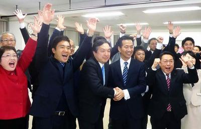 北関東比例区岡本、輿水候補が当選確実に