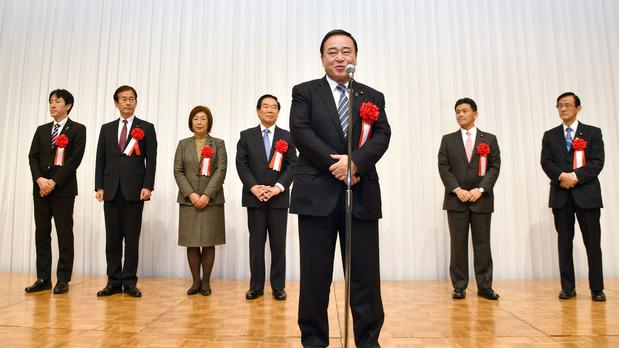梶山弘志地方創生担当大臣と自民党国会議員